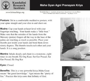 Maha Gyan Agni instructions