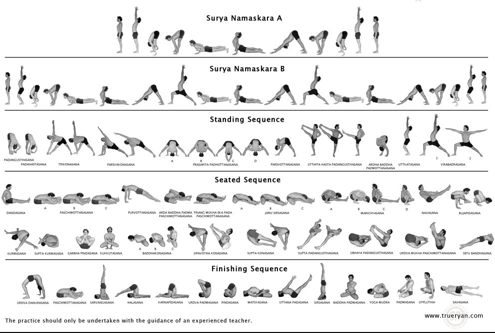 22 forms of yoga