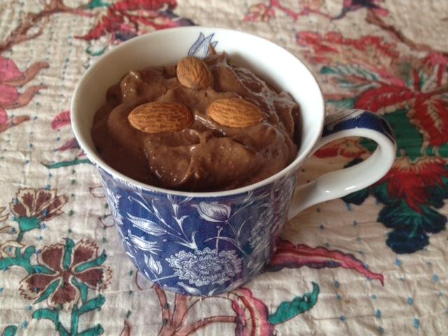 Cacao avocado mousse
